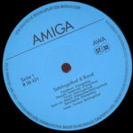 A spinning record label