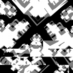 Rotating grid of rectangles with glitching