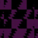 Glitched scrolling checker-board pattern